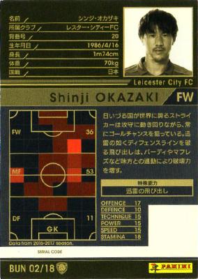 ★【16-17 Ver.2.0 /  BUN 02】シンジ・オカザキ