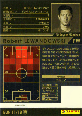 ★【16-17 Ver.2.0 /  BUN 11】ロベルト・レバンドフスキ