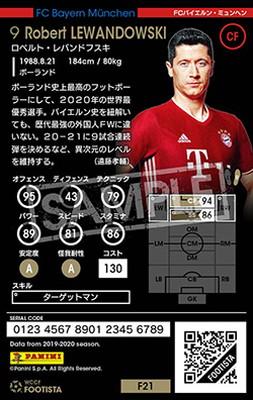 【F21-6 013】ロベルト・レバンドフスキ【MVP】 ★6 SS