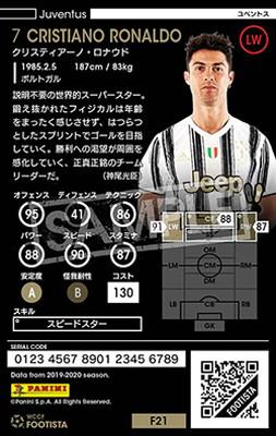 【F21-6 021】クリスティアーノ・ロナウド ★6 SS