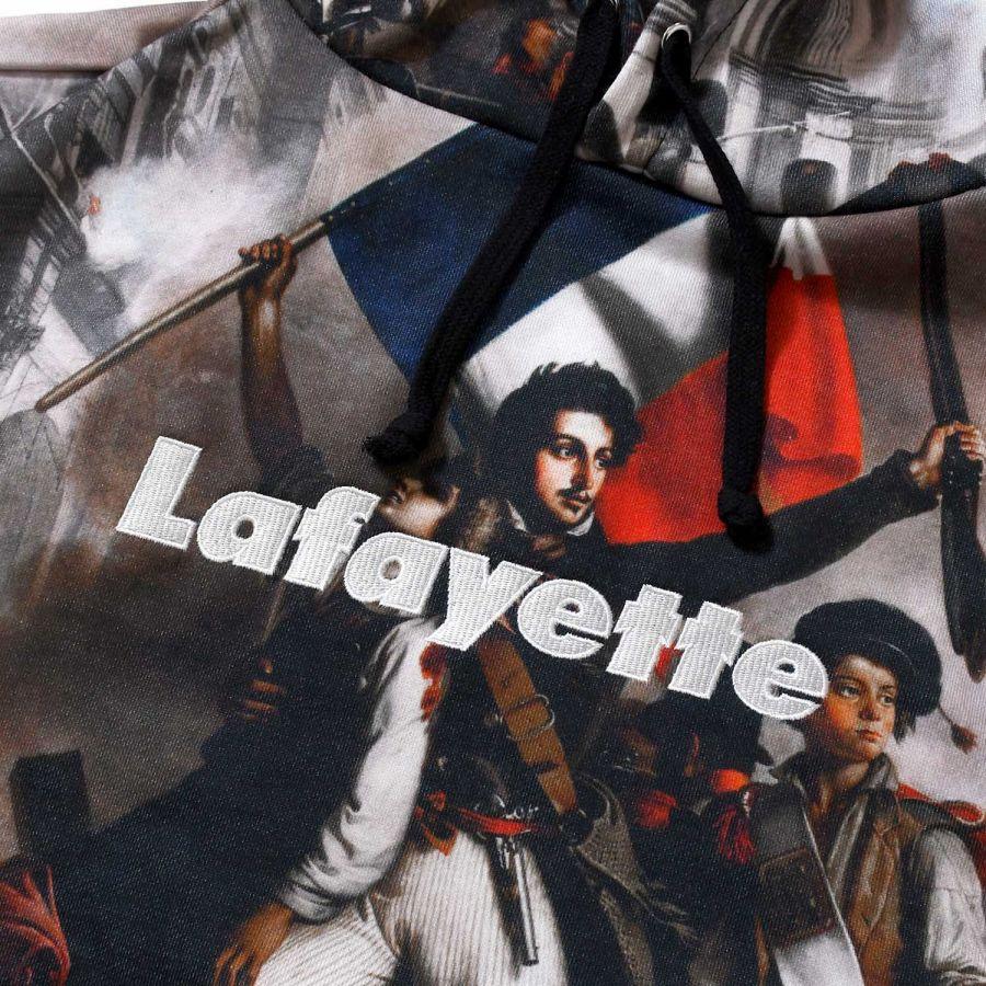 LFYT : FRENCH REVOLUTION ALLOVER Lafayette LOGO HOODED SWEATSHIRT