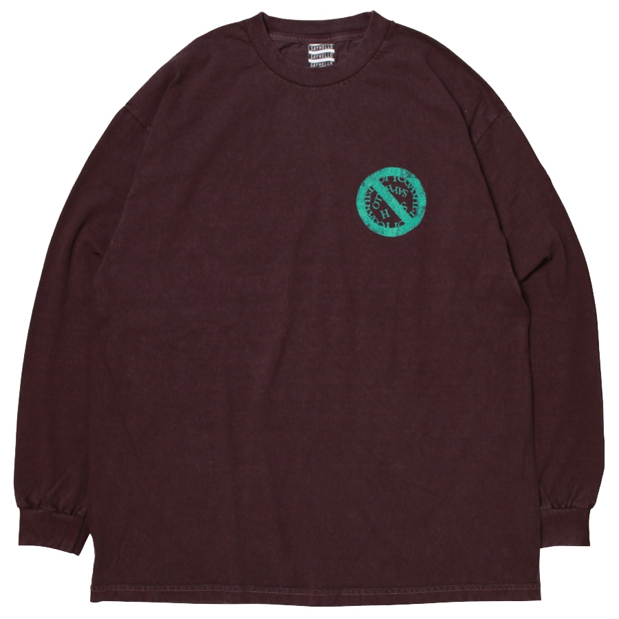 SAYHELLO : Pigment Dyed No Logo L/S Tee