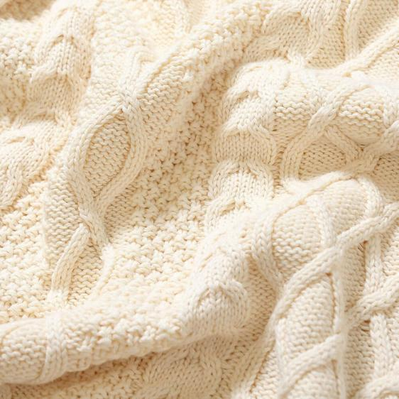 LFYT : COTTON CABLE KNIT SWEATER