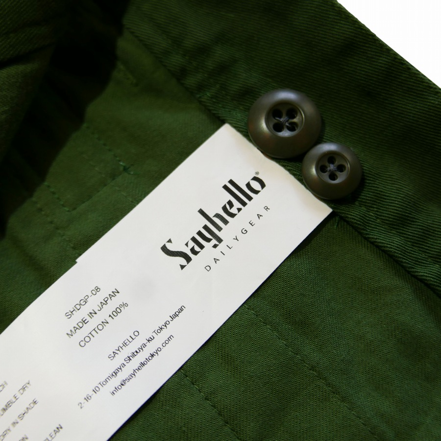 SAYHELLO : Daily Work Garment-Dye Chino Pants Wide-Fit