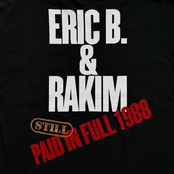 RAP TEES : ERIC B&RAKIM PAID IN FULL PHOTO S/S TEE