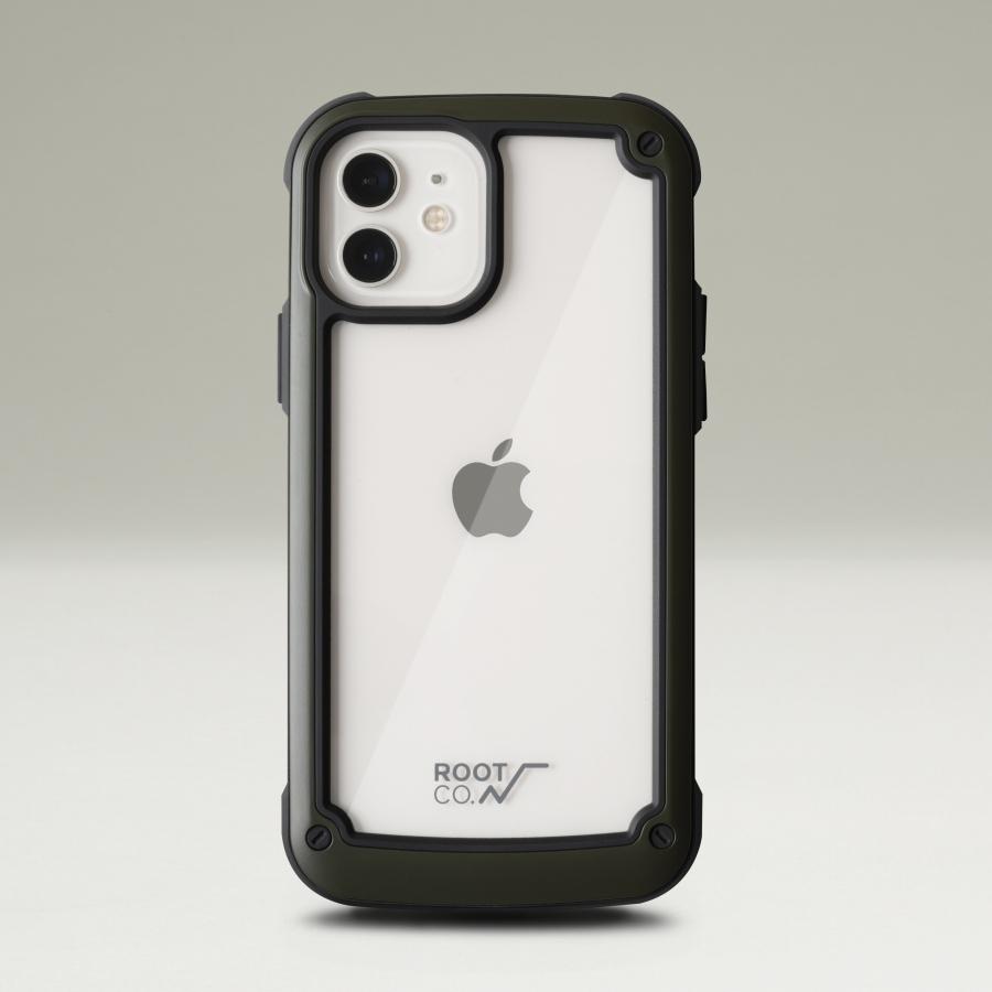 ROOT CO. : [iPhone12/12Pro専用] GRAVITY Shock Resist Tough & Basic Case. (KHAKI)