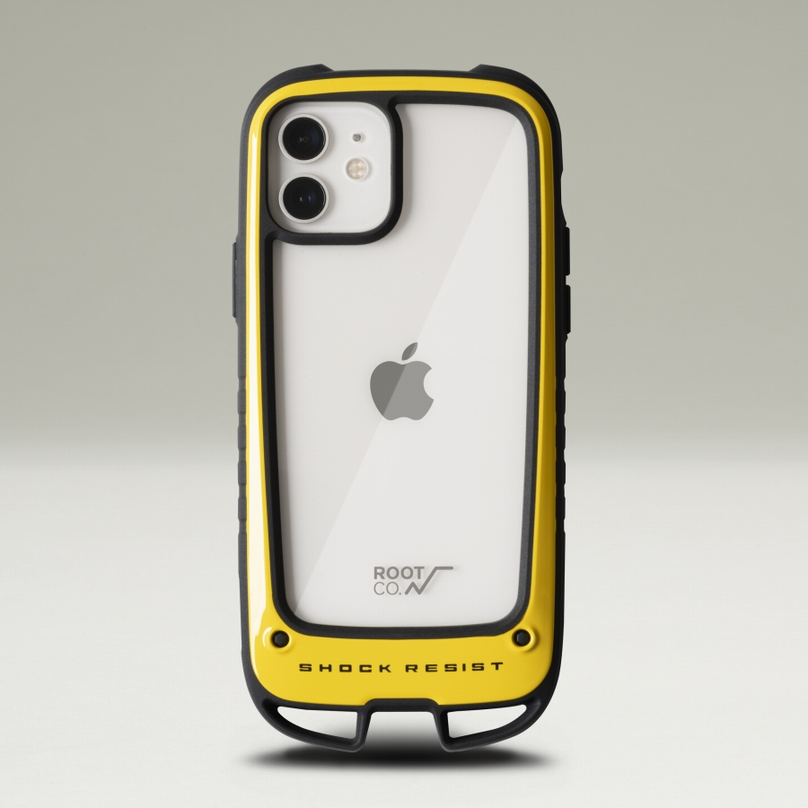 ROOT CO. : [iPhone12/12Pro専用] GRAVITY Shock Resist Case +Hold. (YELLOW)