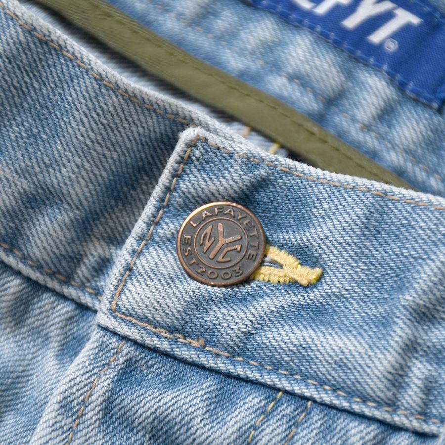 LFYT : 5 POCKET WASHED DENIM PANTS BAGGIE FIT