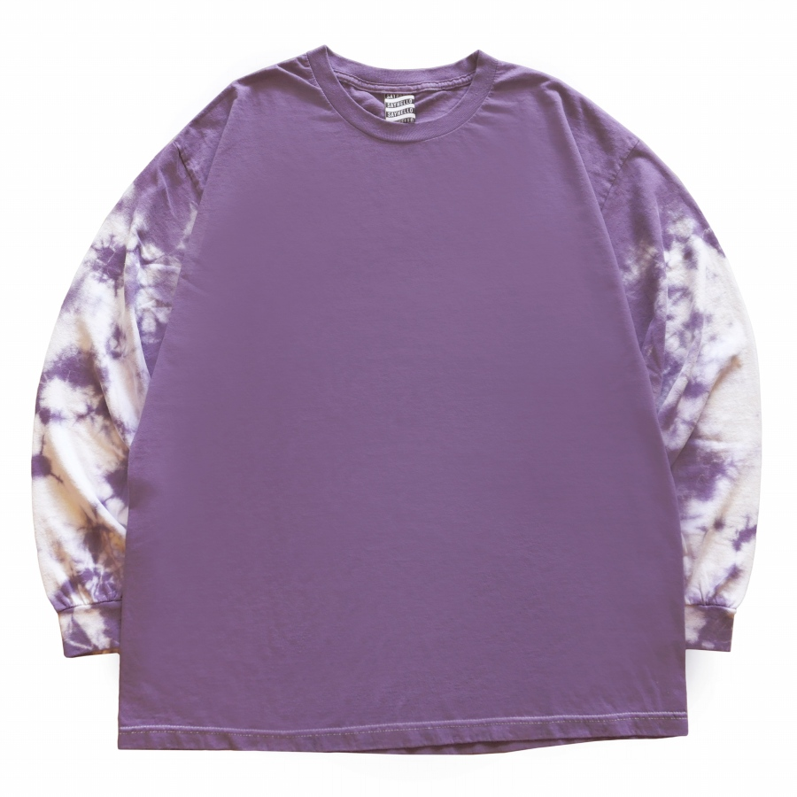 SAYHELLO : Face Logo Sleeve dyed L/S Tee