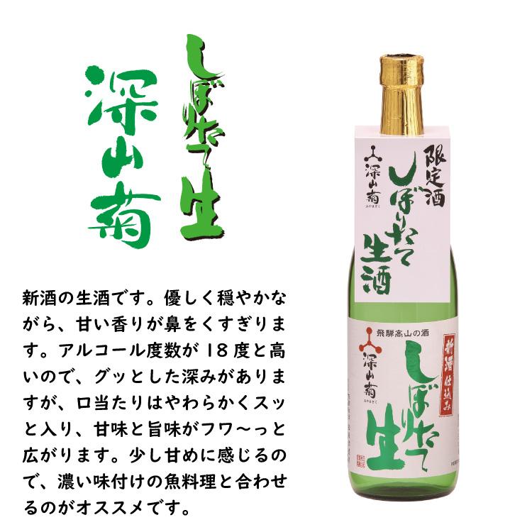 【季節限定】深山菊 しぼりたて生酒 720ml  18度