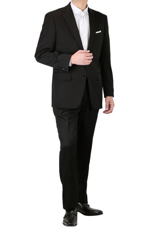礼服 おすすめ メンズ フォーマルスーツ renoma PARIS レノマ パリス オールシーズン対応 濃染加工 アジャスター付き シングル2つ釦