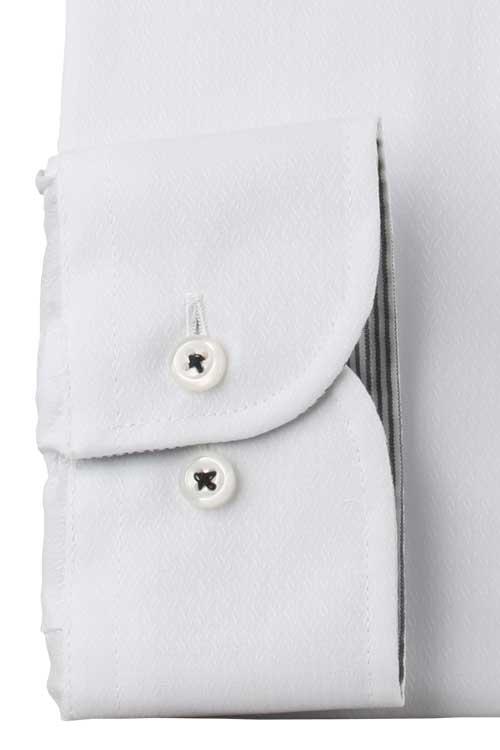 ワイシャツ 抗ウイルス加工 バリエックス メンズ ドレスシャツ Yシャツ 長袖 形態安定 ノーアイロン ボタンダウン ホワイト ドビー