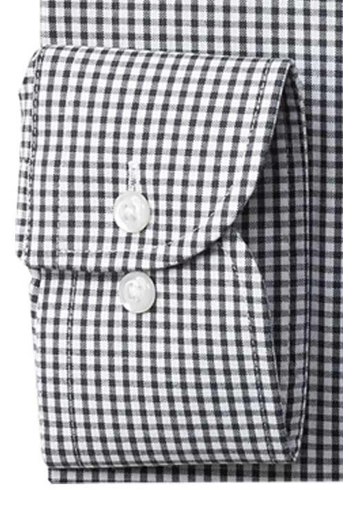 長袖ワイシャツ CORDURA コーデュラ 形態安定 シロクロ チェック系 ボタンダウン 接触冷感性 摩擦に強い生地 バックパック通勤に最適