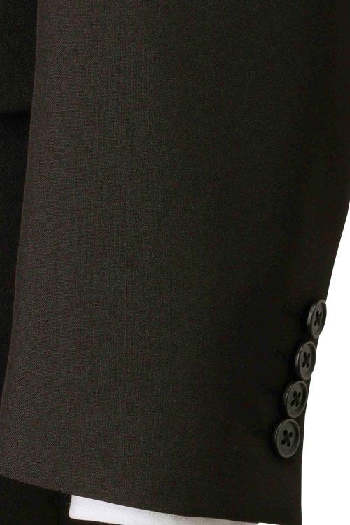 スーツ メンズ 2つボタン ビジネススーツ オールシーズン対応 ナチュラルストレッチ ウォッシャブルパンツ ブラック スリムスタイル