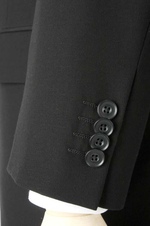 礼服 高機能素材 アウトラスト生地使用 オールシーズン ダブル4つ釦1つ掛け ベーシック ブラックフォーマル