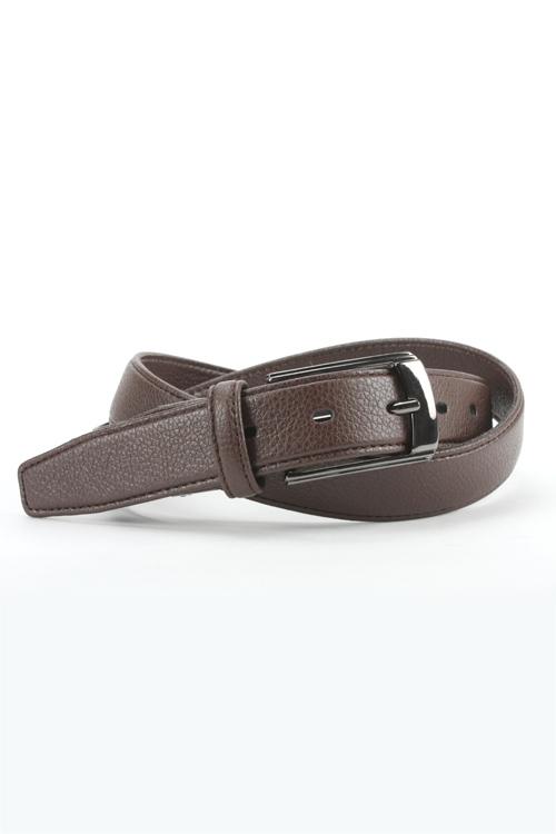 レザーベルト 合皮 ストレッチベルト メンズ 紳士 ビジネス カジュアル ブラウン型押し ロングサイズ有