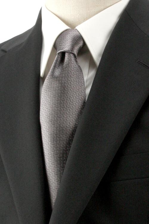 フォーマル ネクタイ メンズ 9cm巾ベーシックタイ ジャガード織 総柄 法事用 シルク100%