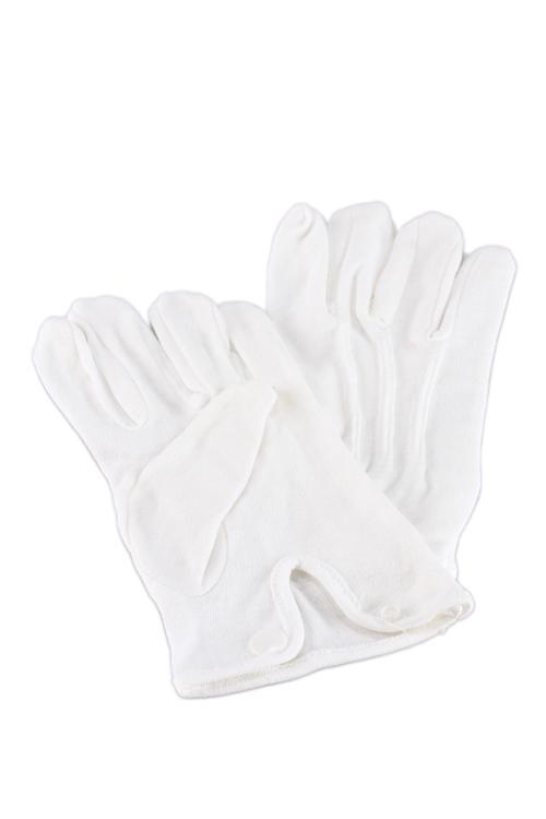 白手袋/礼装用/ホック付き/ホワイト/綿100%/フォーマル