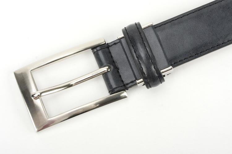 レザーベルト 本革 表 牛革 裏 豚革 メンズ 紳士 ビジネス カジュアル ブラックボカシ染め ロングサイズ有