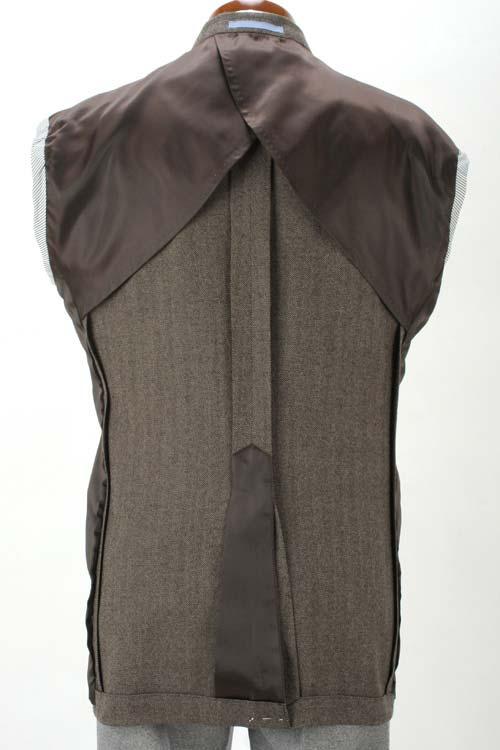 ANGELICO アンジェリコ社製生地使用 ブラウン ヘリンボーン柄 秋冬 2つボタンシングルジャケット