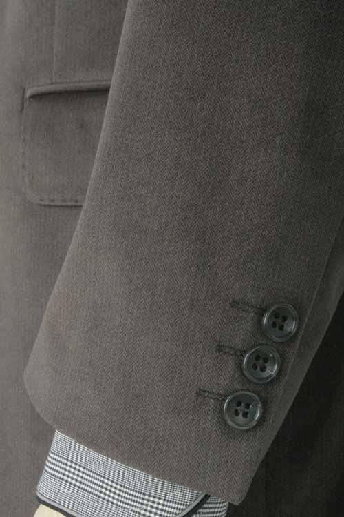 NORMAN HILTON ノーマンヒルトン 秋冬 ブラウン ヘリンボーン ストレッチ 2つ釦ベーシック ジャケット