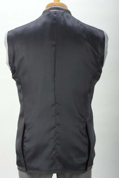 秋冬 グレーチェック 裏地ポケットチーフ仕様 2つ釦シングル カジュアルジャケット