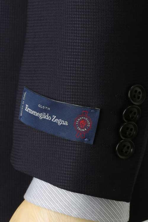エルメネジルド ゼニア Ermenegildo Zegna 生地使用 ジャケット メンズ ビジネス カジュアル 春夏 2つボタン ネイビー 無地系