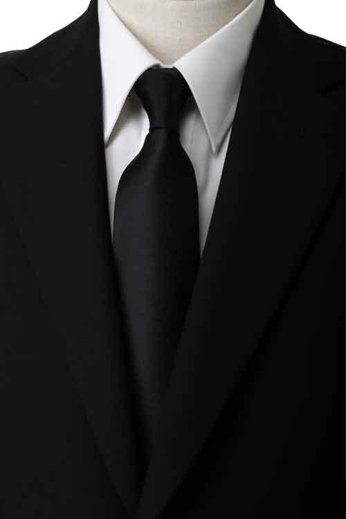 ネクタイ シルク フォーマルタイ ブラックタイ 黒ネクタイ 礼装タイ 弔事用 葬儀 葬式 なし地織 無地