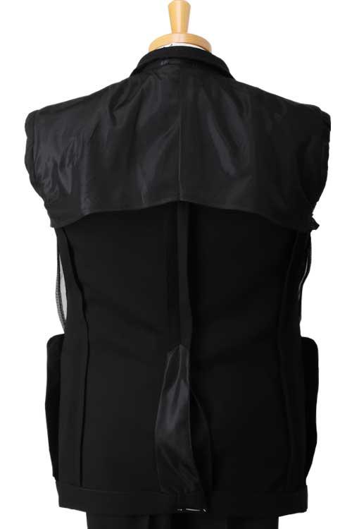 礼服 メンズ 夏用 サマー礼服 フォーマルスーツ マリクレール アジャスター付き ベーシック 2つ釦シングル