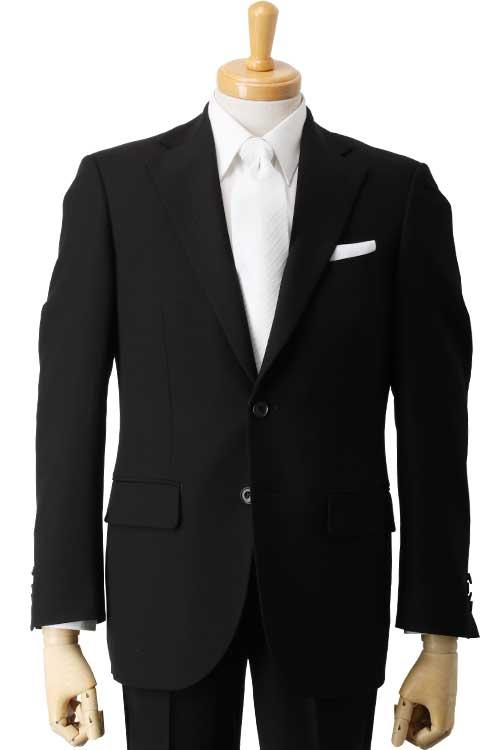 礼服 メンズ フォーマルスーツ オールシーズン アウトラスト 生地使用 アジャスター付き ベーシック 2つ釦シングル