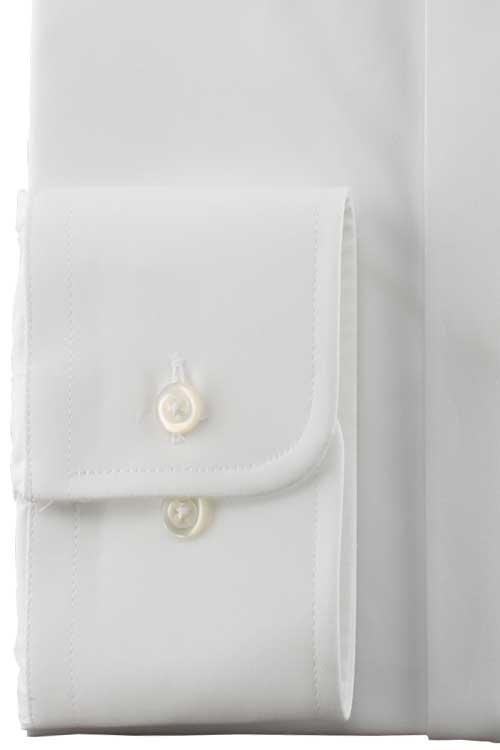 ウィングカラーシャツ フォーマル メンズ ドレスシャツ 比翼 白無地 綿100%
