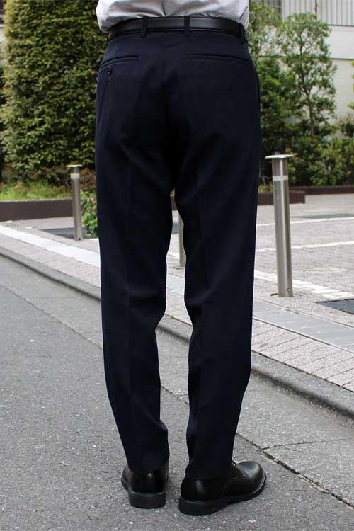 スラックス メンズ ストレッチ スリム 裾上げ済み ウォッシャブル 無地 ノータック