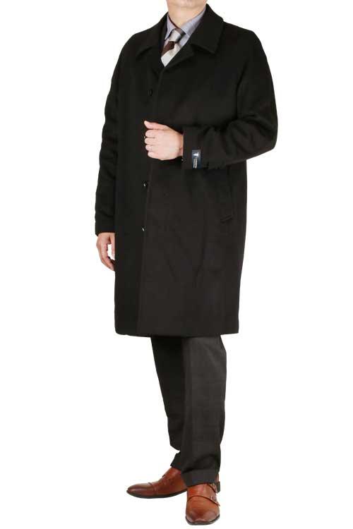 カシミヤコート メンズ ラグランステンカラー ハーフコート 秋冬 ブラック カシミヤ100% ピュアカシミヤ