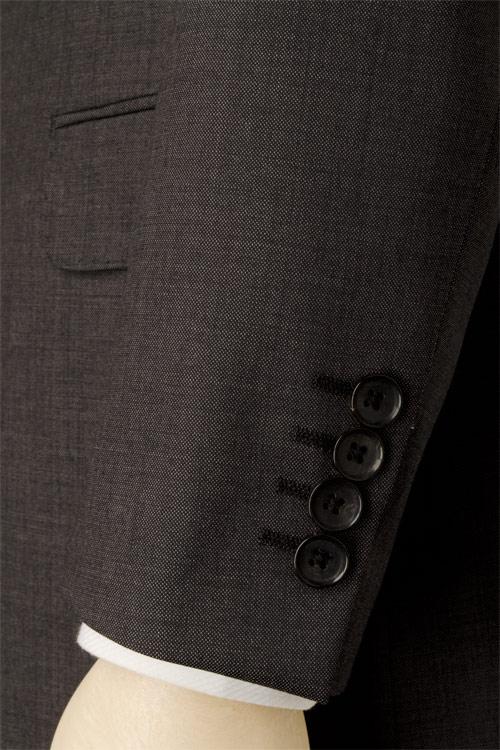 renoma PARIS レノマ パリス 春夏 ダークグレー シャンブレー 無地 2つ釦ベーシック スーツ