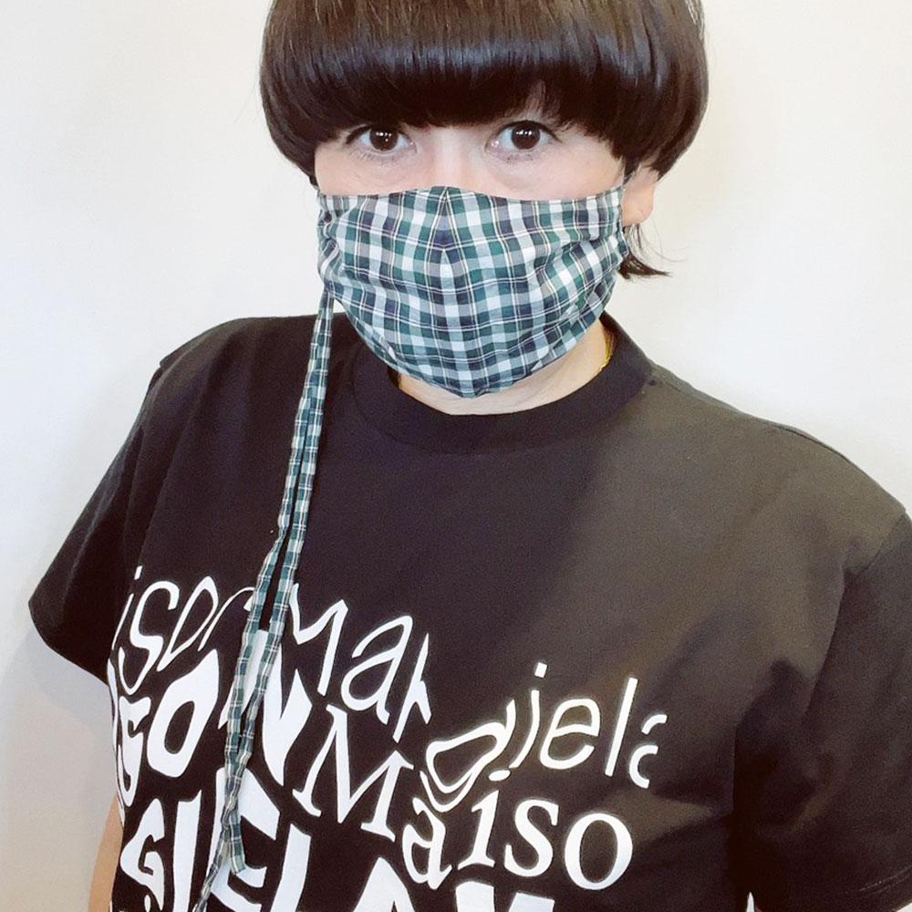 リバティチェック マスク