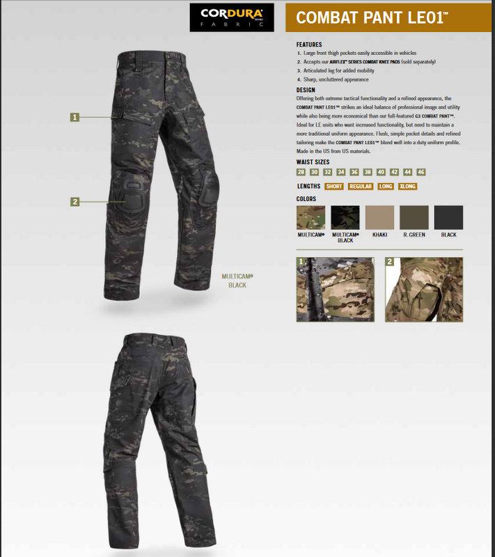 COMBAT PANT LE01 MC BK