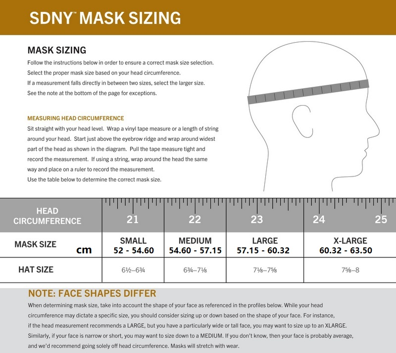 SDNY MASK 2-PACK GRAY