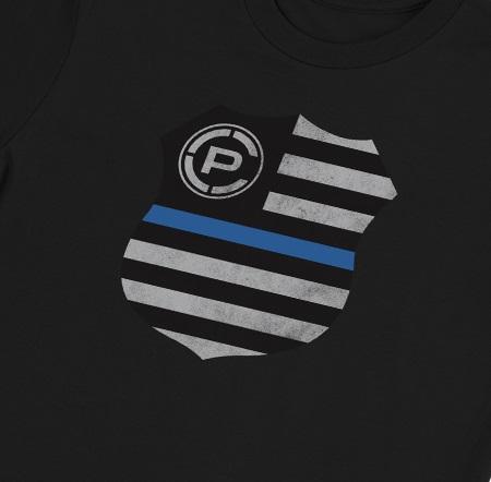 T-SHIRT FLAG SHIELD BLACK