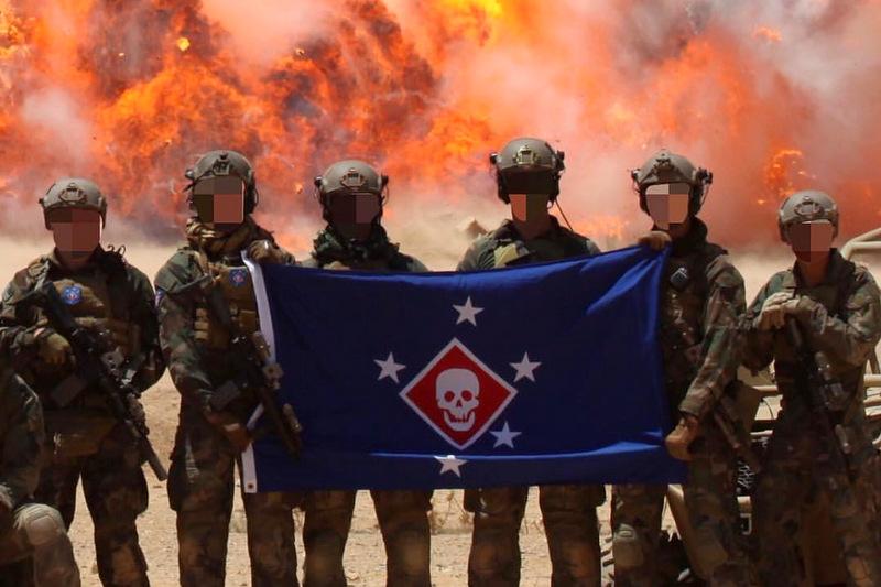 USMC MARSOC RAIDERS FLAG