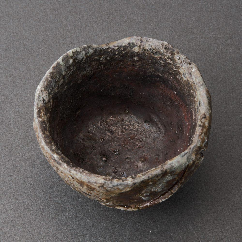 丹波寄土造ぐい呑(大西雅文)Tanba Sake Cup(Masafumi Onishi)