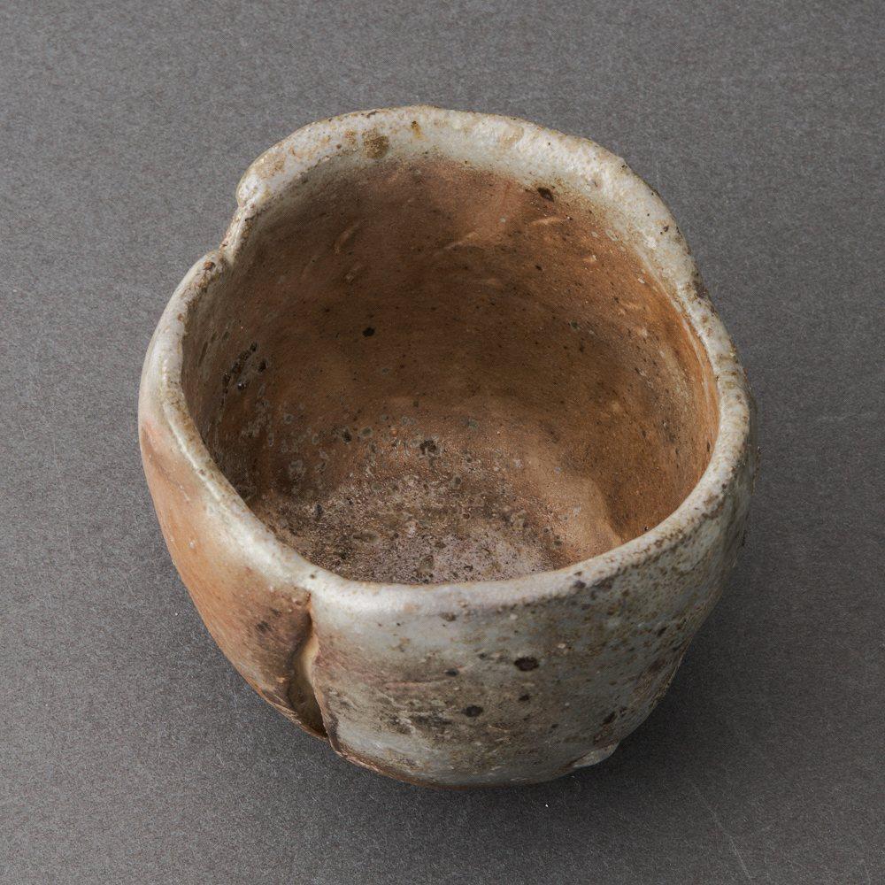 白丹波寄土造ぐい呑(大西雅文)White Tanba Sake Cup(Masafumi Onishi)