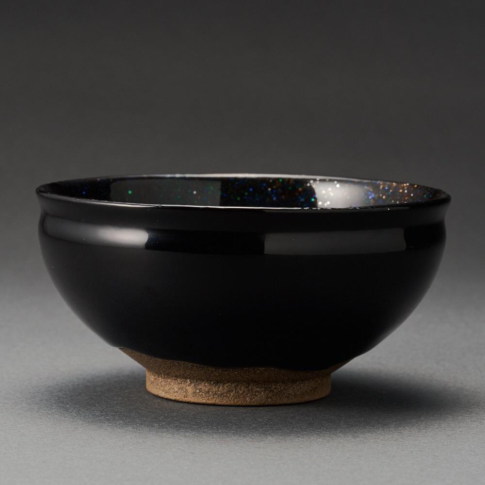 芯漆環状星雲ぐい呑(山崖松堂)Sake Cup made by Lump of Lacquer(Shoudou Yamagishi)