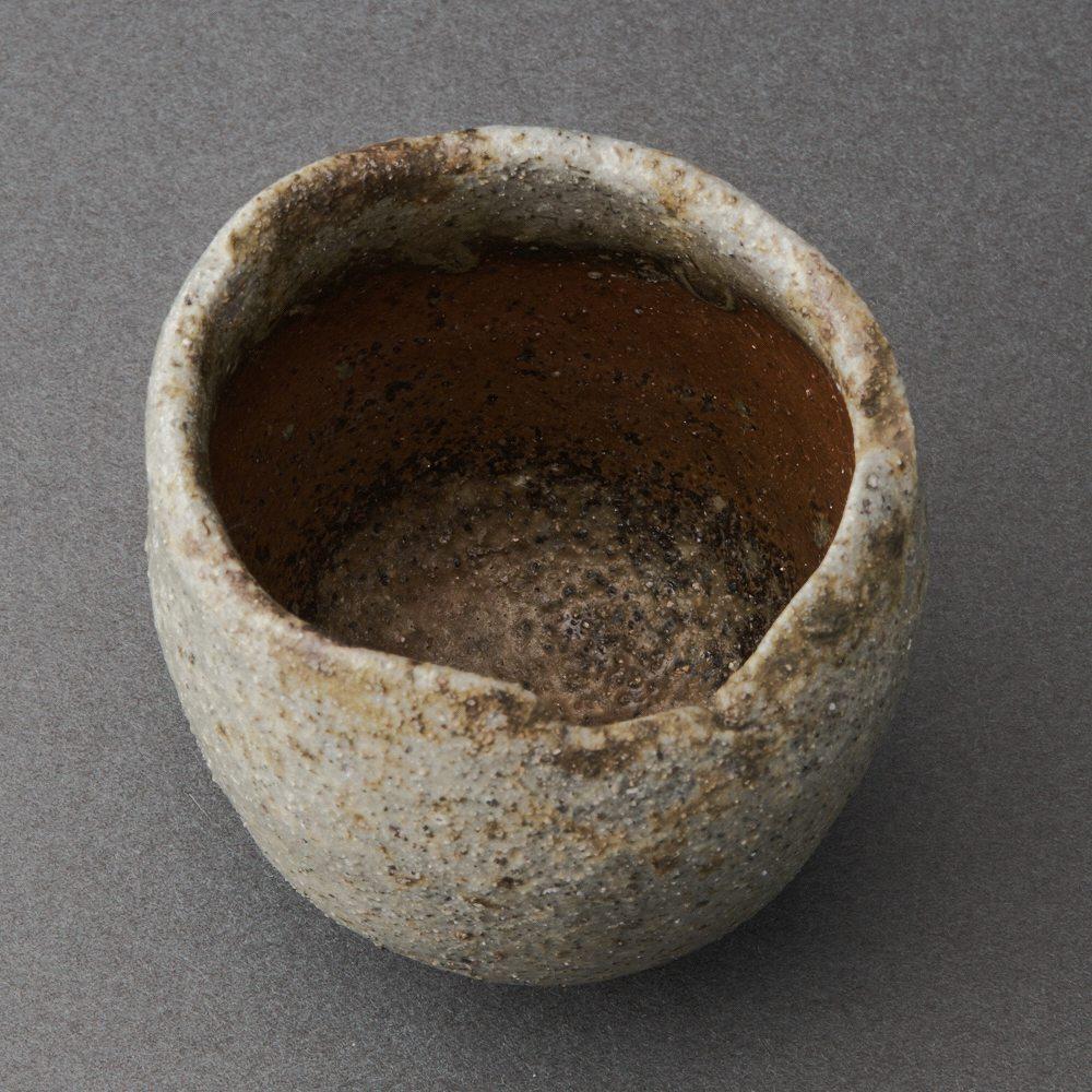 桧山備前酒呑(後関裕士)Bizen Sake Cup(Hiroshi Goseki)