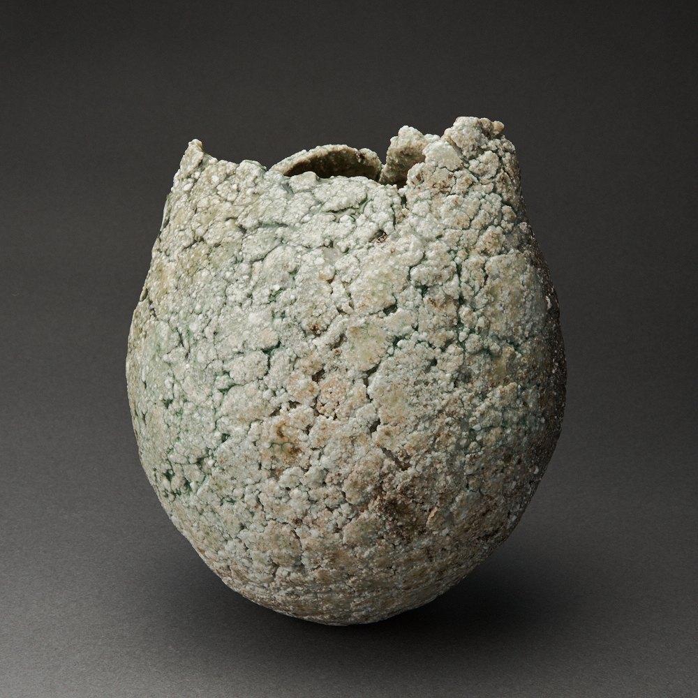 信楽混成壷(古谷和也)Shigaraki pot(Kazuya Furutani)