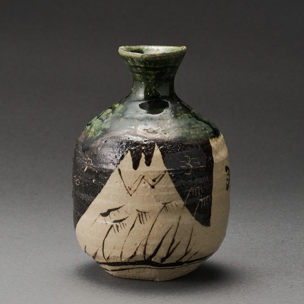 織部徳利(澤克典)Oribe Sake Bottle(Katsunori Sawa)