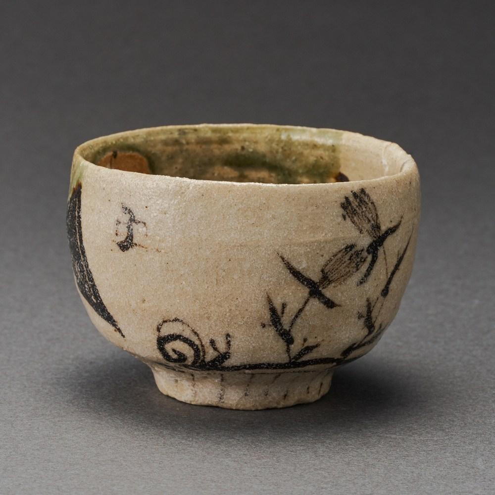 織部ぐい呑(澤克典)Oribe Sake Cup(Katsunori Sawa)