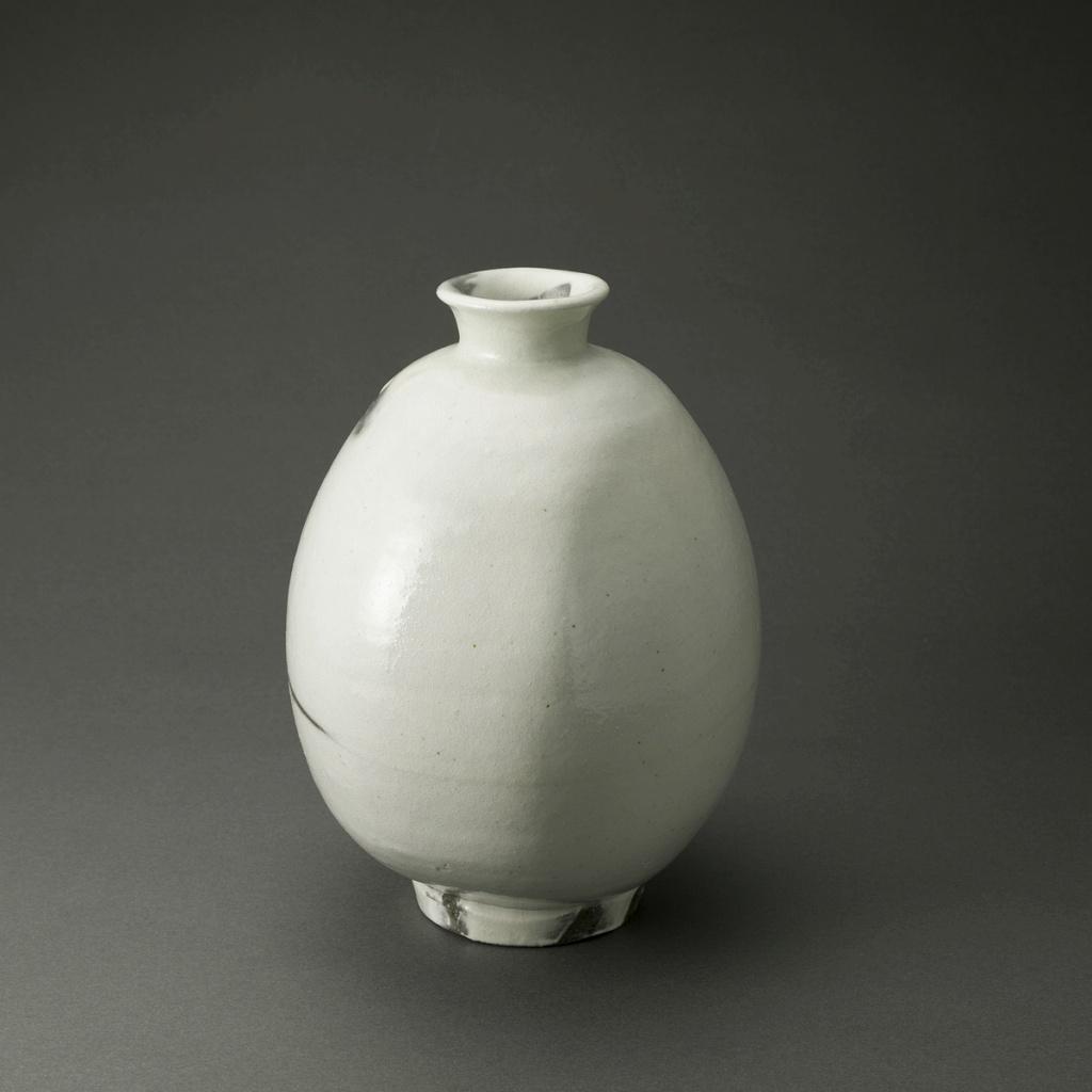 粉引扁壷(鈴木大弓)Kohiki Pot(Hiroyumi Suzuki)