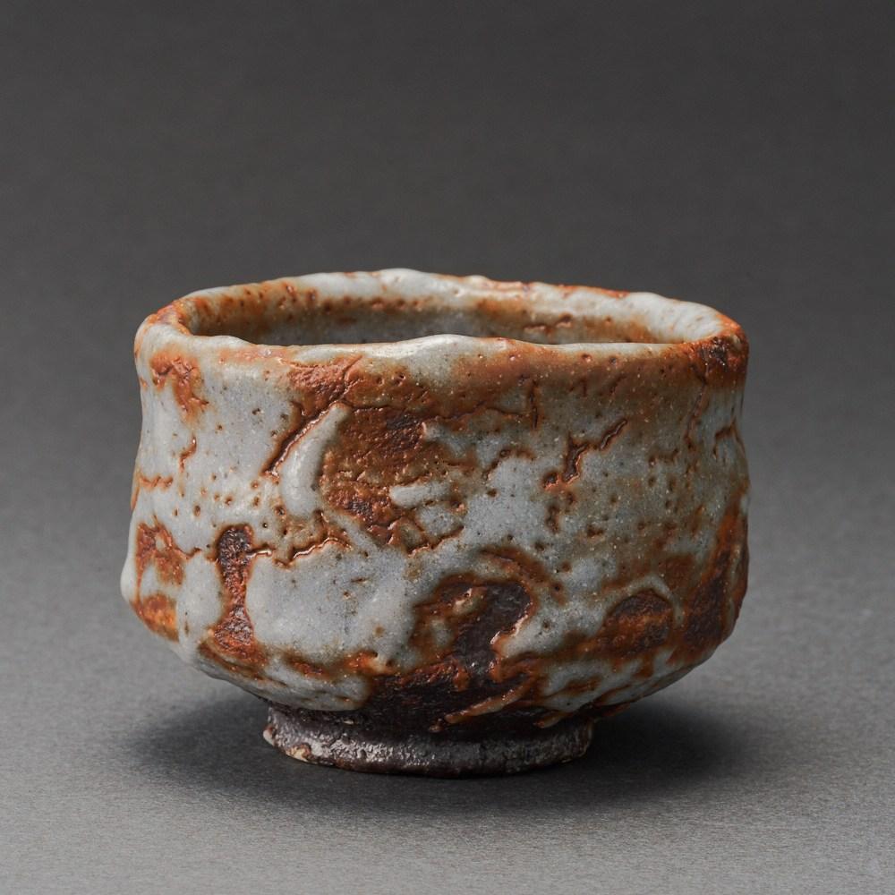 紅志野ぐい呑(澤克典)Shino Sake Cup(Katsunori Sawa)