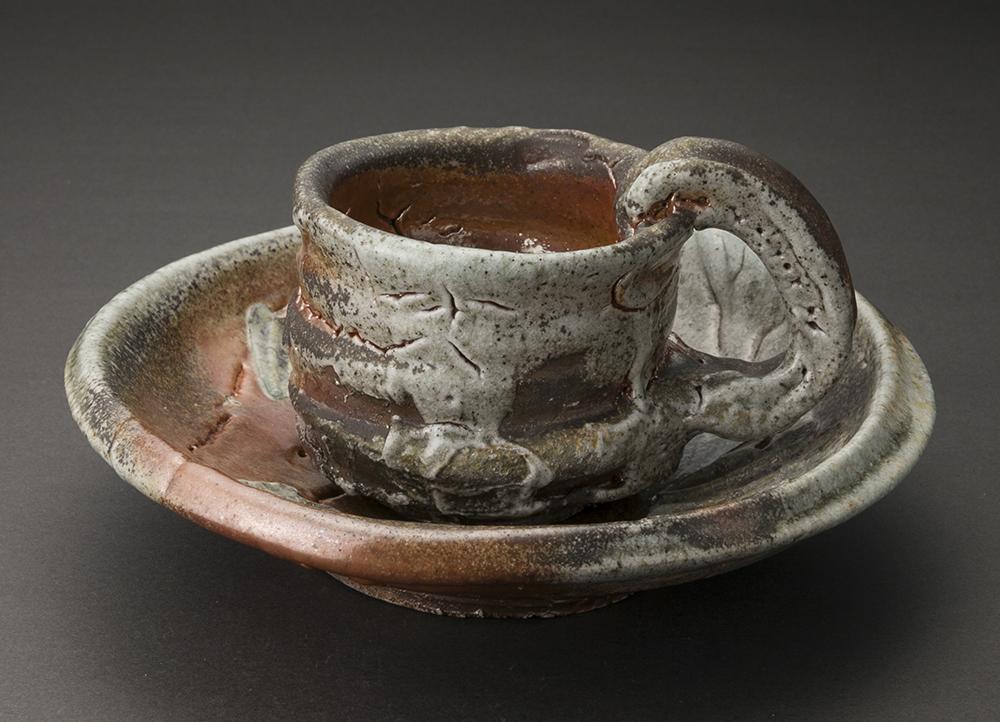 松坂志乃珈琲碗(熊野九郎右ヱ門)Kuma-shino Coffee Cup(Kuroeon Kumano)
