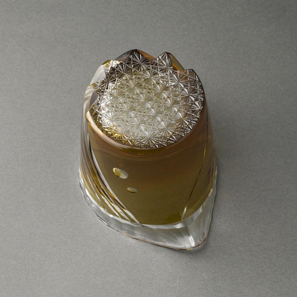 被硝子切子片口(小川郁子)Cut Glass Sake Carafe(Ikuko Ogawa)